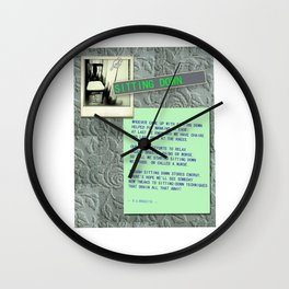 Sitting Down Poster Wall Clock