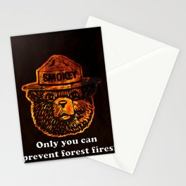 Smokey the Bear Stationery Cards