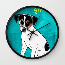 Dog Rat Terrier Wall Clock