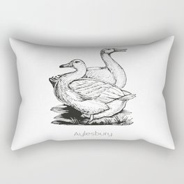 Aylesbury Duck | Animal Art Design Rectangular Pillow