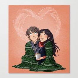 Wintertime cuddles Canvas Print