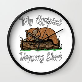 Funny Sleepy Sloth Nightgown - My Official Napping   Wall Clock
