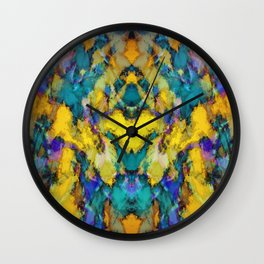 Yellow colour reaction Wall Clock