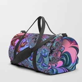Metallic Fractal Duffle Bag