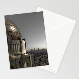 Griffith Park Observatory with Downtown LA Skyline Stationery Cards