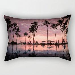 Summer tropical sunrise Rectangular Pillow
