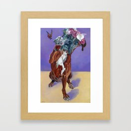 Hazel the Princess Boxer Girl Framed Art Print