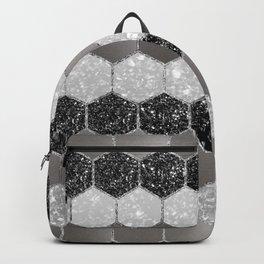 Silver Hexagon Glitter Glam #1 #geometric #decor #art #society6 Backpack
