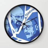 heisenberg Wall Clocks featuring Heisenberg by El LoCo