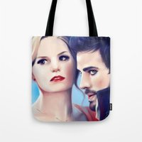 captain swan Tote Bags featuring Captain Swan by Faerytale-Wings