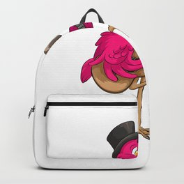 Flamingo Playing Guitar  Cool Guitarists Funny Player Gift T-Shirt Backpack