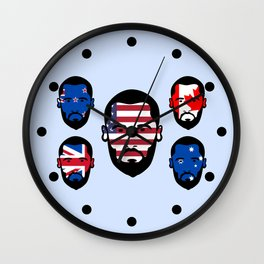 Spying The 5 Eyes Wall Clock