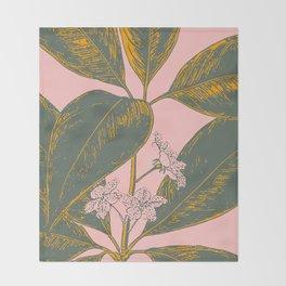 Modern Botanical Banana Leaf Throw Blanket