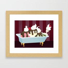 Sundae Bath Framed Art Print