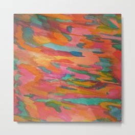 Rainbow Sherbet Abstract Painting Metal Print