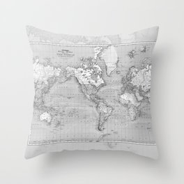 Atlas of the World Throw Pillow