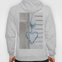 Blue Heart of beads Hoody