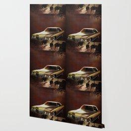 1972 Golden Cadillac Wallpaper