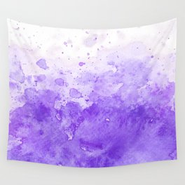 Watercolor Handpaint | Purple Abstract Ocean Mist Wall Tapestry