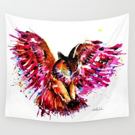 Flying Owl Wall Tapestry