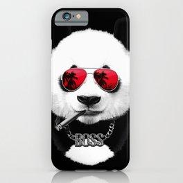 Panda Black Boss iPhone Case