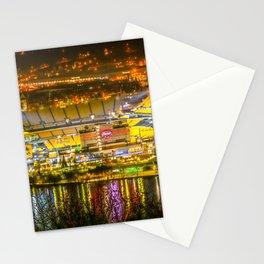 Pittsburgh Football Stadium Night View Steel City Stationery Cards