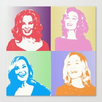 jessica lange Canvas Prints featuring Jessica Lange - Her smile is everything by BeeJL