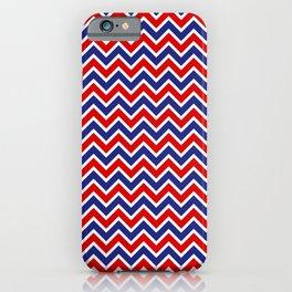 Patriotic Neck Gator Red White and Blue Chevron iPhone Case