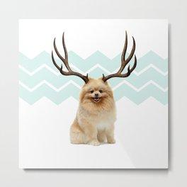 Puppy&Antlers Metal Print