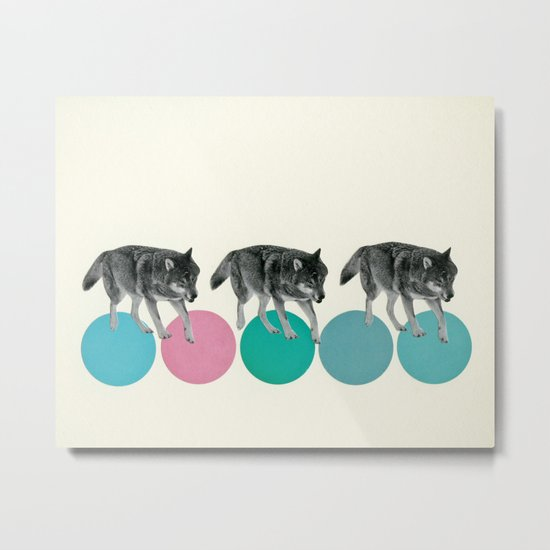 Hungry Wolves Metal Print