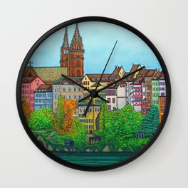 Colours of Basel Wall Clock