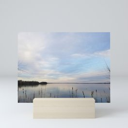 Twilight Serenity - Clouds and reflections on University Bay Mini Art Print