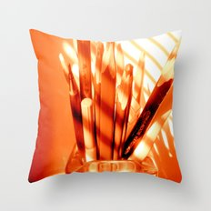 the sun is up Throw Pillow