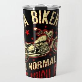 Mens I Am A Biker Papa Gift for Grandpa Motorbikes graphic Travel Mug