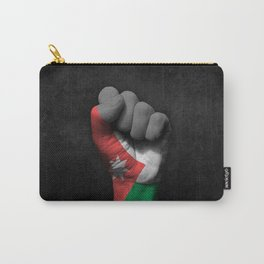 Jordanian Flag on a Raised Clenched Fist Carry-All Pouch