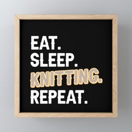 Knitting Funny Saying Handmade Gift Framed Mini Art Print