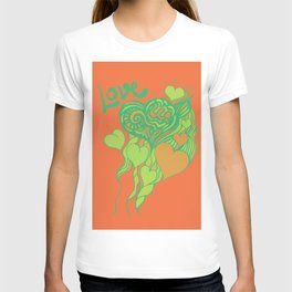 love and doodle T-shirt