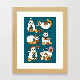 Christmas cats Framed Art Print