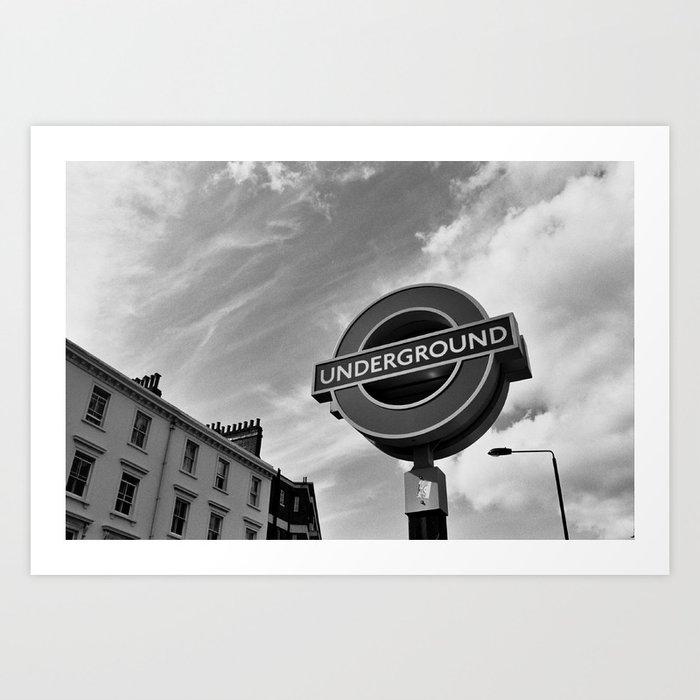 fc1477ddec0 London Underground Sign Art Print by noladders