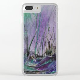 Magic Forest Are Just a Little Bit Haunted Clear iPhone Case
