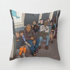 SUBWAY CROWD Throw Pillow