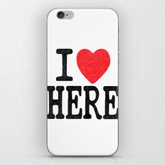 i love here iPhone & iPod Skin