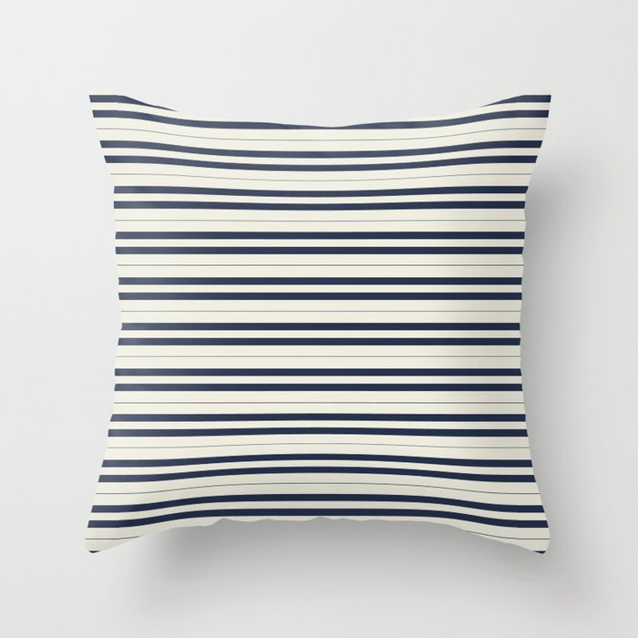 Nautical Stripes Throw Pillow