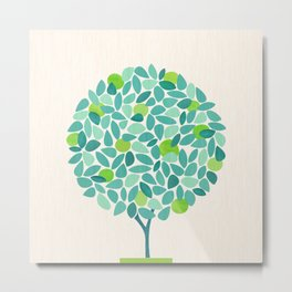 Mid Century Lime Tree Metal Print