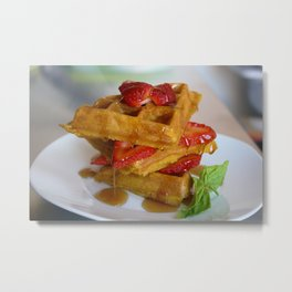 Sunday Waffles Metal Print