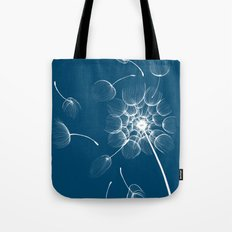 Dandelion Blue Tote Bag