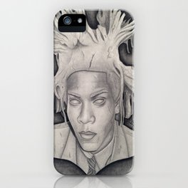 """""""Immortalizing in Stone"""" Jean-Michel Basquiat Drawing iPhone Case"""