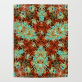 Scifi Rustic Geometric Poster