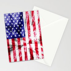 American Flag Extrude Stationery Cards