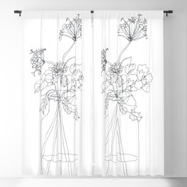 flowers in vase Blackout Curtain